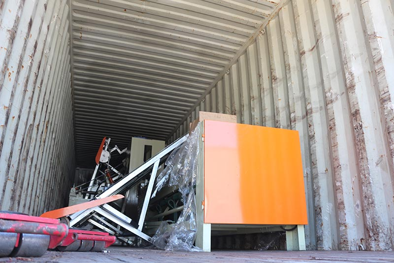 Geelong machinery exported two container